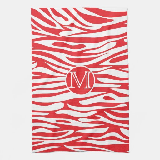 Estampado de animales rojo y blanco toallas
