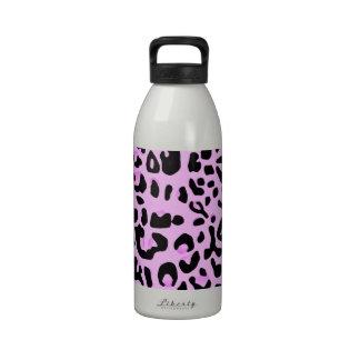 Estampado de animales rosado botellas de beber