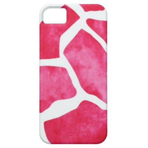 Estampado de animales rosado iPhone 5 carcasas