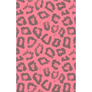 Estampado de animales rosado y gris del guepardo d