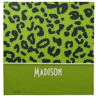 Estampado de animales verde del leopardo; Personal Servilletas Imprimidas