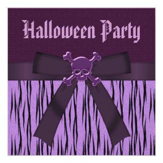 Estampado de animales y fiesta púrpuras de Hallowe Comunicados