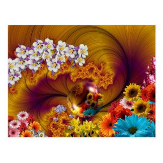 Estampado de flores # 18 tarjeta postal