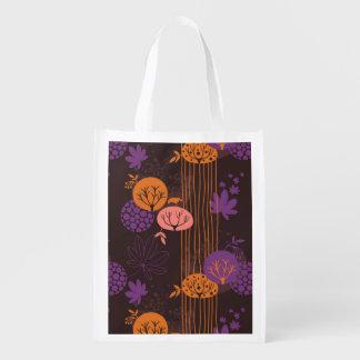 Estampado de flores 2 3 bolsas para la compra