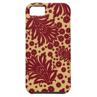 Estampado de flores 4 del papel pintado de Paisley iPhone 5 Carcasas
