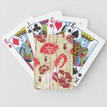 Estampado de flores abstracto 2 de la elegancia cartas de juego