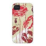 Estampado de flores abstracto 2 de la elegancia Case-Mate iPhone 4 fundas