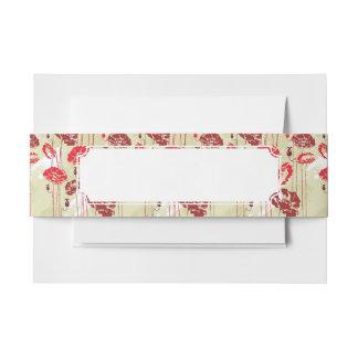 Estampado de flores abstracto 2 de la elegancia cintas para invitaciones