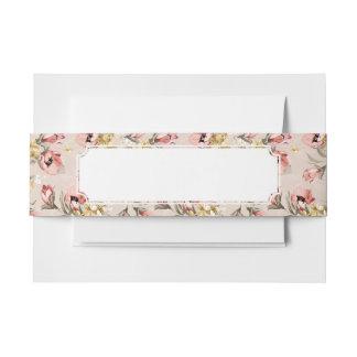 Estampado de flores abstracto 3 de la elegancia cintas para invitaciones