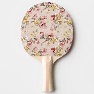Estampado de flores abstracto 3 de la elegancia pala de tenis de mesa