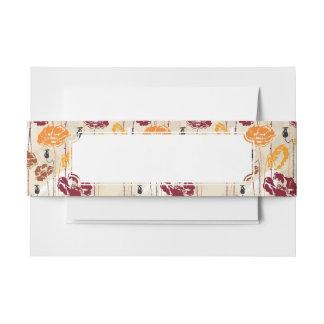 Estampado de flores abstracto 4 de la elegancia cintas para invitaciones