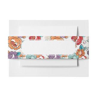 Estampado de flores abstracto 5 de la elegancia cintas para invitaciones