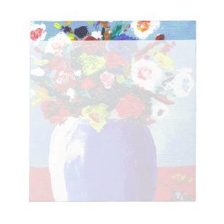 Estampado de flores abstracto bonito bloc de notas