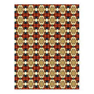 Estampado de flores abstracto coloreado multi tarjeta postal