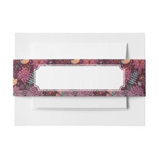 Estampado de flores abstracto con los pájaros cintas para invitaciones