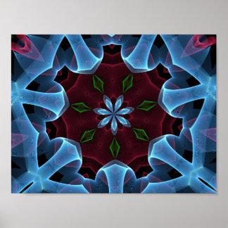 Estampado de flores abstracto de la fantasía póster
