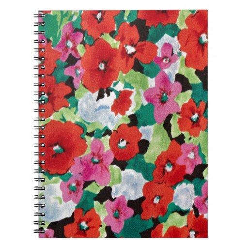 Estampado de flores abstracto del PJ. Libros De Apuntes