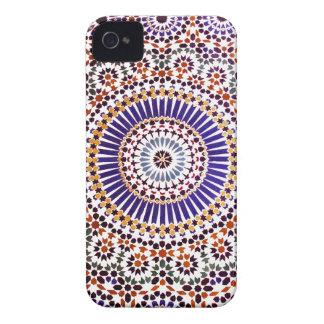 Estampado de flores abstracto del vintage Case-Mate iPhone 4 cárcasa