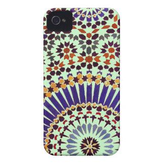 Estampado de flores abstracto del vintage iPhone 4 Case-Mate cobertura