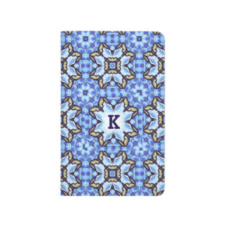 Estampado de flores abstracto marroquí romántico cuadernos