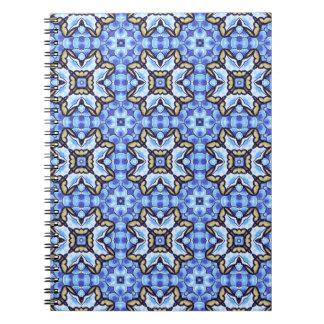 Estampado de flores abstracto marroquí romántico libros de apuntes