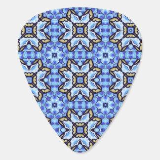 Estampado de flores abstracto marroquí romántico plumilla de guitarra