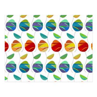 Estampado de flores abstracto moderno de la tarjetas postales