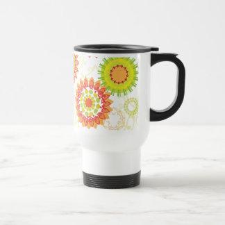 Estampado de flores abstracto retro enrrollado de  tazas