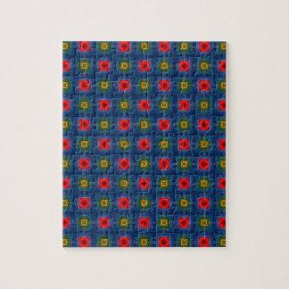 Estampado de flores abstracto rompecabezas