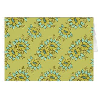 Estampado de flores abstracto tarjeta de felicitación