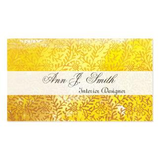 Estampado de flores adornado elegante del tarjetas de visita