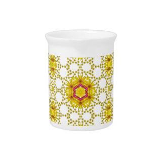 Estampado de flores amarillo del vintage jarras