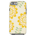 Estampado de flores amarillo elegante - crema