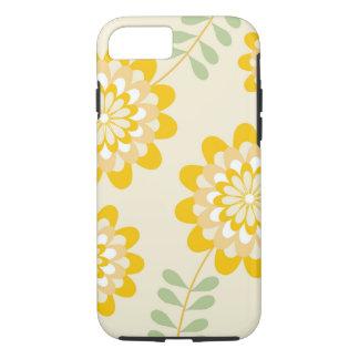 Estampado de flores amarillo elegante - crema funda iPhone 7