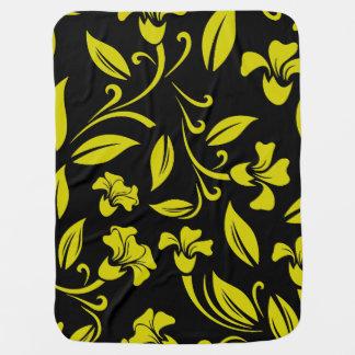 Estampado de flores amarillo mantitas para bebé