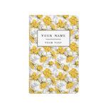 Estampado de flores amarillo y gris de Sunglow del Cuadernos Grapados
