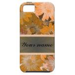 Estampado de flores anaranjado iPhone 5 Case-Mate protector