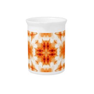 Estampado de flores anaranjado jarrones