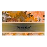 Estampado de flores anaranjado tarjetas de visita