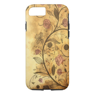 Estampado de flores antiguo funda iPhone 7