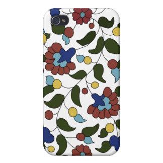 Estampado de flores armenio iPhone 4 carcasa
