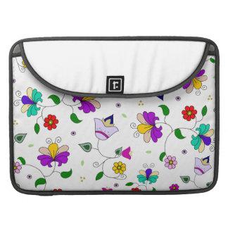 estampado de flores Armenio-inspirado - blanco Funda Para Macbook Pro