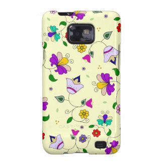 estampado de flores Armenio-inspirado - crema Galaxy S2 Carcasas