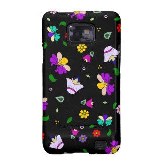 estampado de flores Armenio-inspirado - negro Samsung Galaxy SII Carcasas