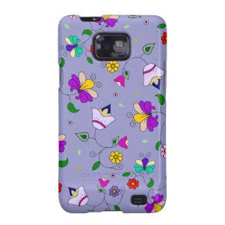 estampado de flores Armenio-inspirado - púrpura Galaxy S2 Carcasas
