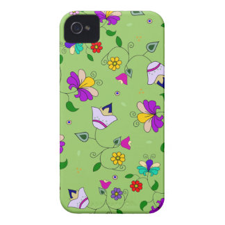 estampado de flores Armenio-inspirado - verde iPhone 4 Case-Mate Fundas