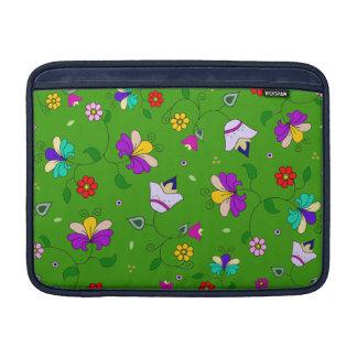estampado de flores Armenio-inspirado - verde Funda Para Macbook Air