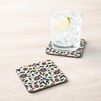 Estampado de flores armenio posavasos de bebidas
