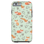 Estampado de flores astuto funda para iPhone 6 tough