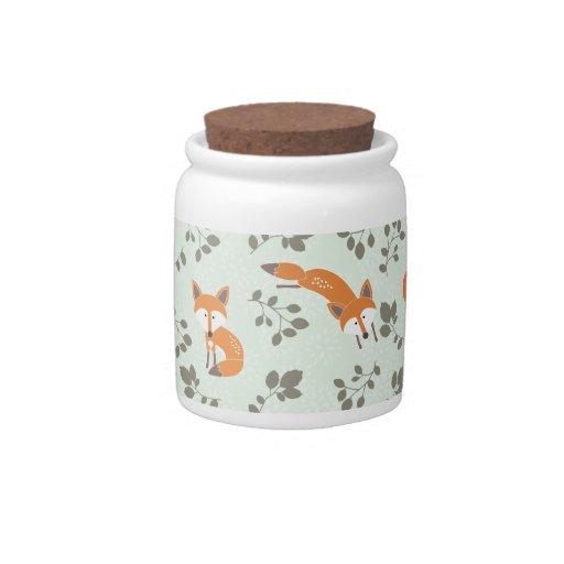 Estampado de flores astuto jarras para caramelos
